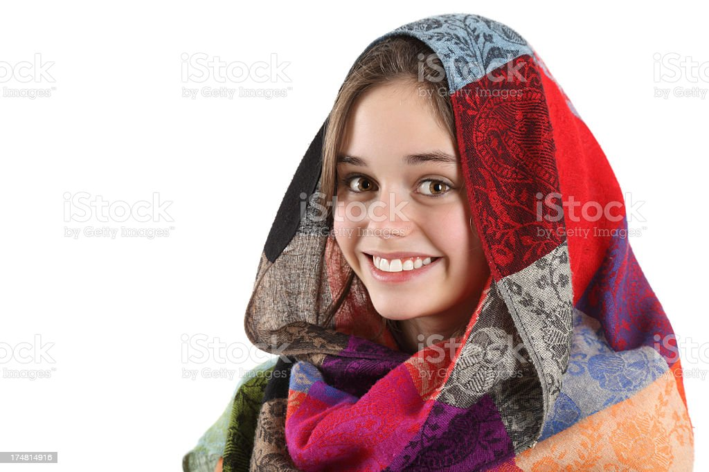 Veiled beauty royalty-free stock photo