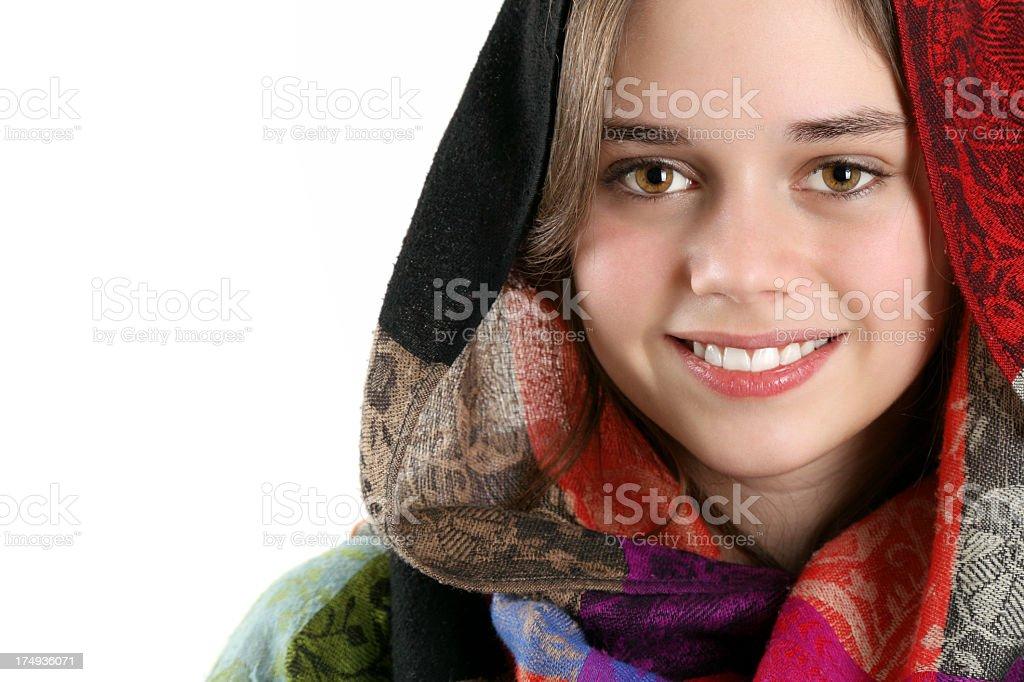 Veiled beauty royalty-free stock photo