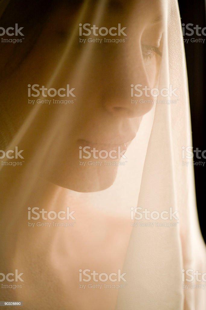 veiled concern royalty-free stock photo