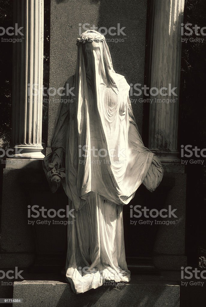 veiled grief royalty-free stock photo