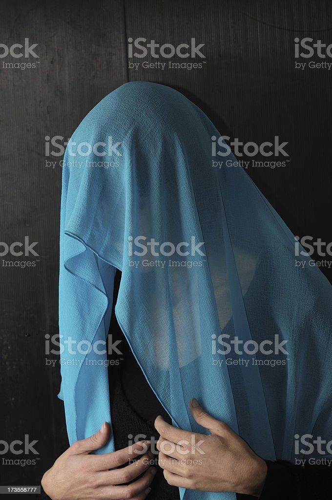 Veiled woman royalty-free stock photo