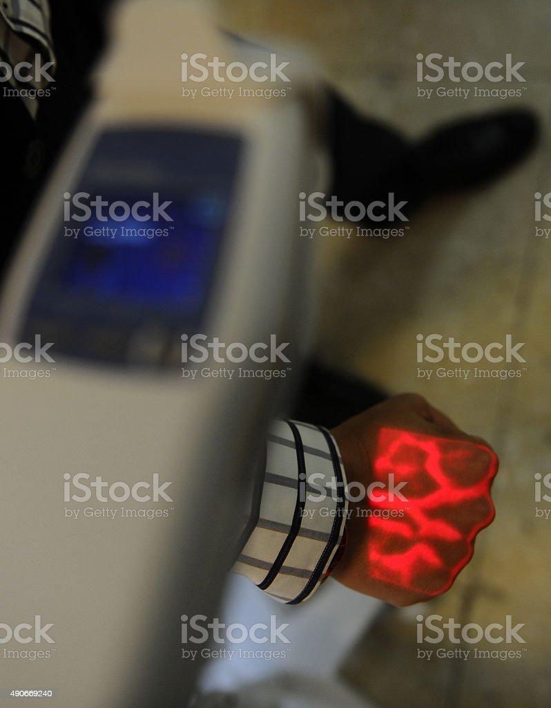 Veins finder stock photo