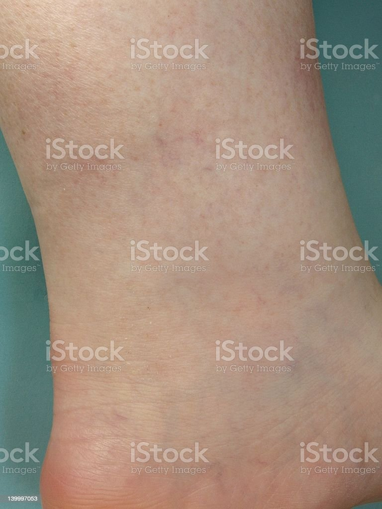 Veins on foot stock photo