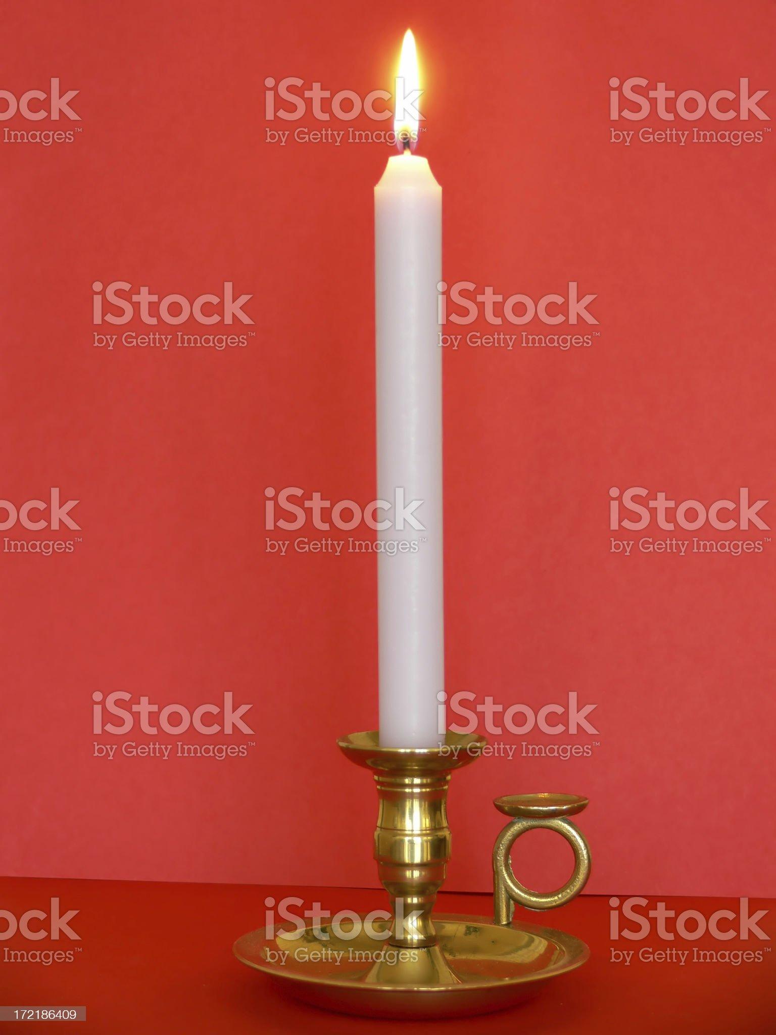 Vela encendida royalty-free stock photo