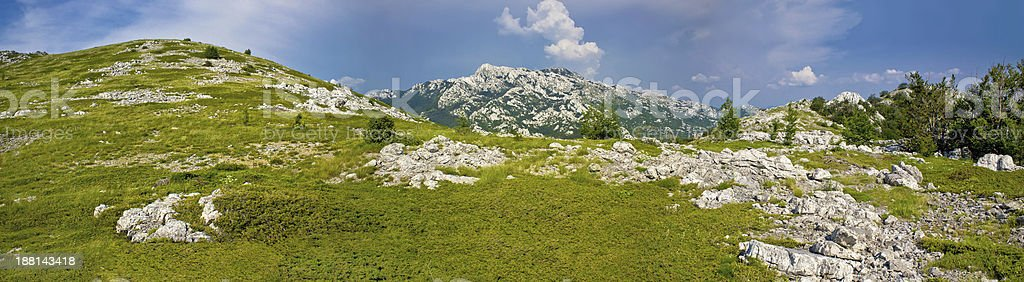 Velebit mountain national park panorama stock photo