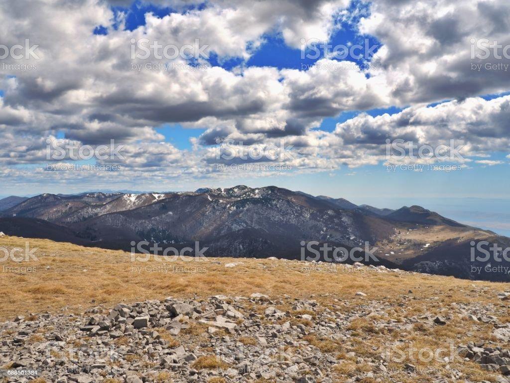Velebit mountain stock photo