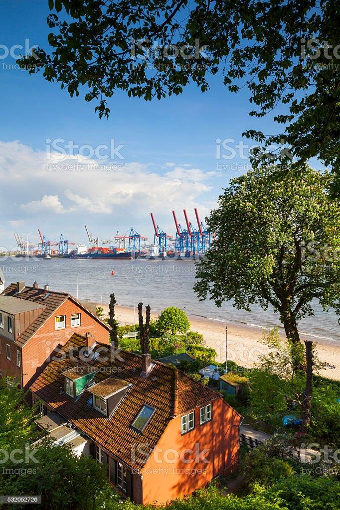 Övelgönne, Hamburg, Germany stock photo