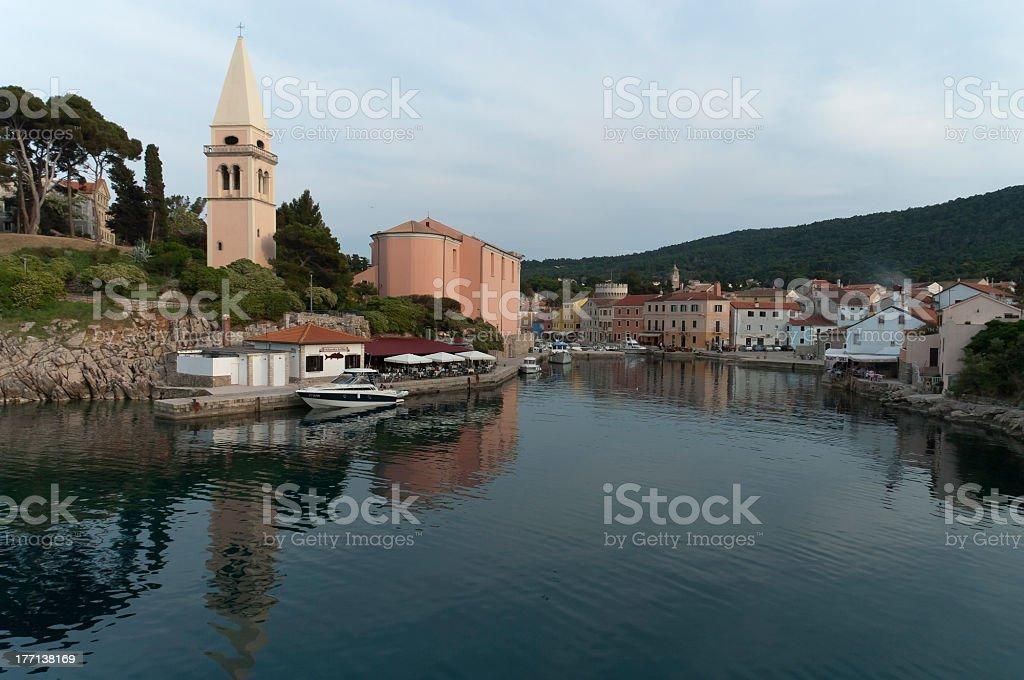 Veli Losinj port royalty-free stock photo