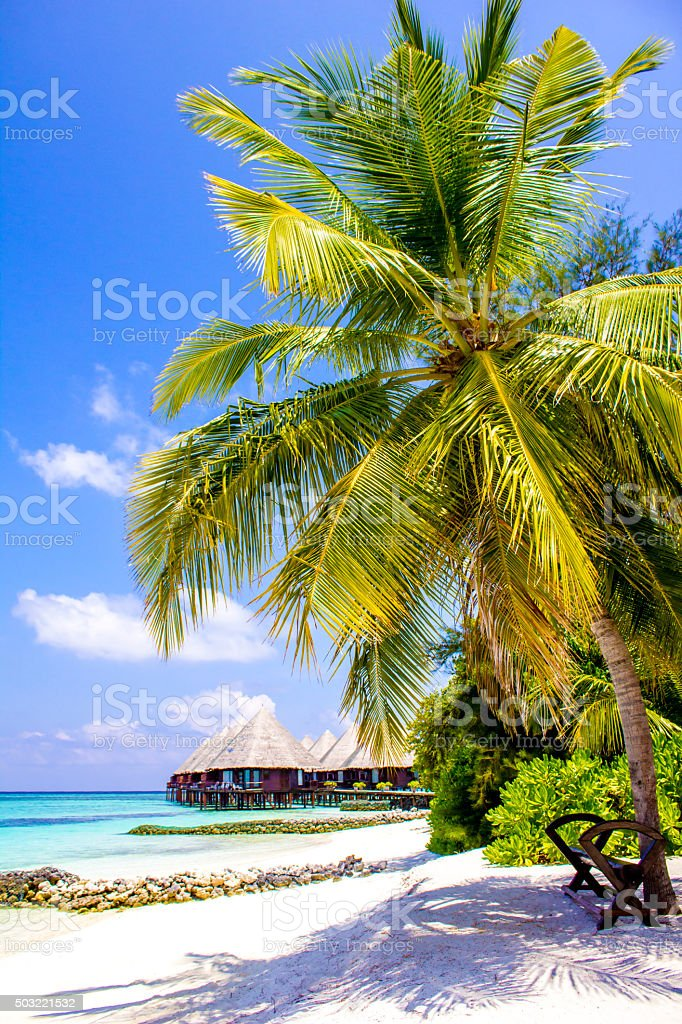 Veligandu island resort in the Maldives stock photo