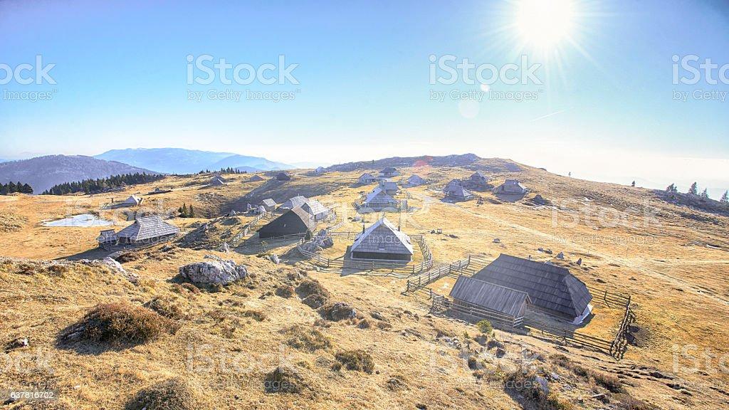 Velika planina in Slovenia stock photo