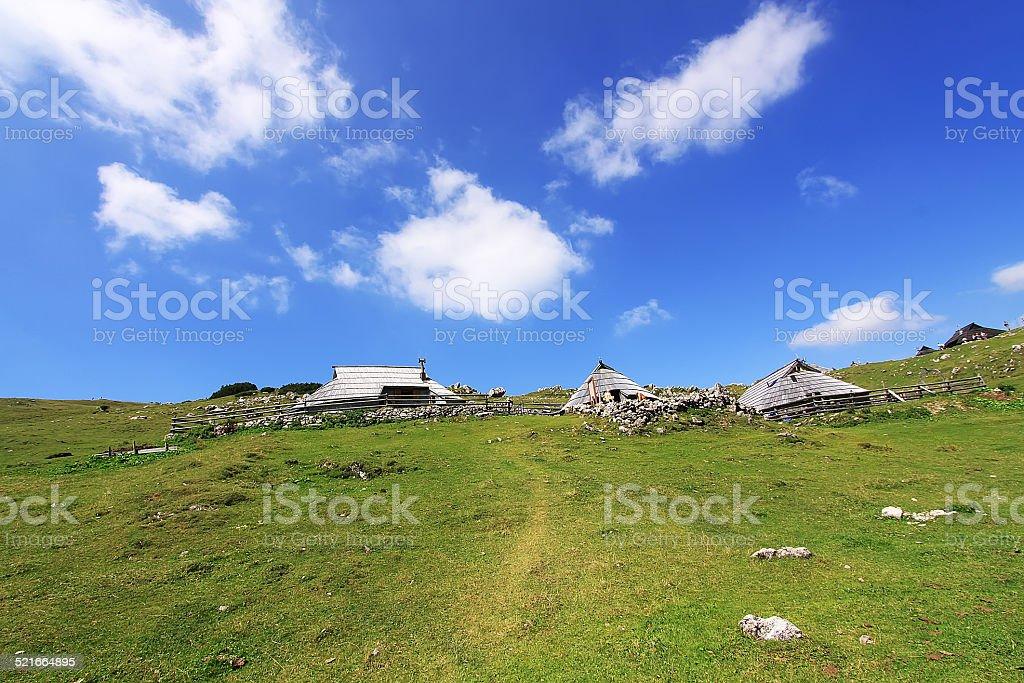 Velika Planina stock photo