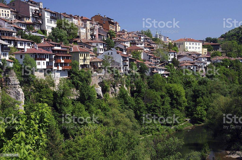 Veliko Tarnovo in Spring royalty-free stock photo