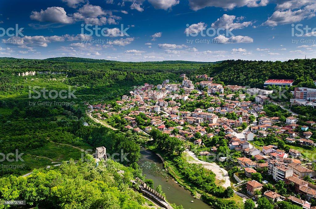 Veliko Tarnovo, the historical capital of Bulgaria stock photo