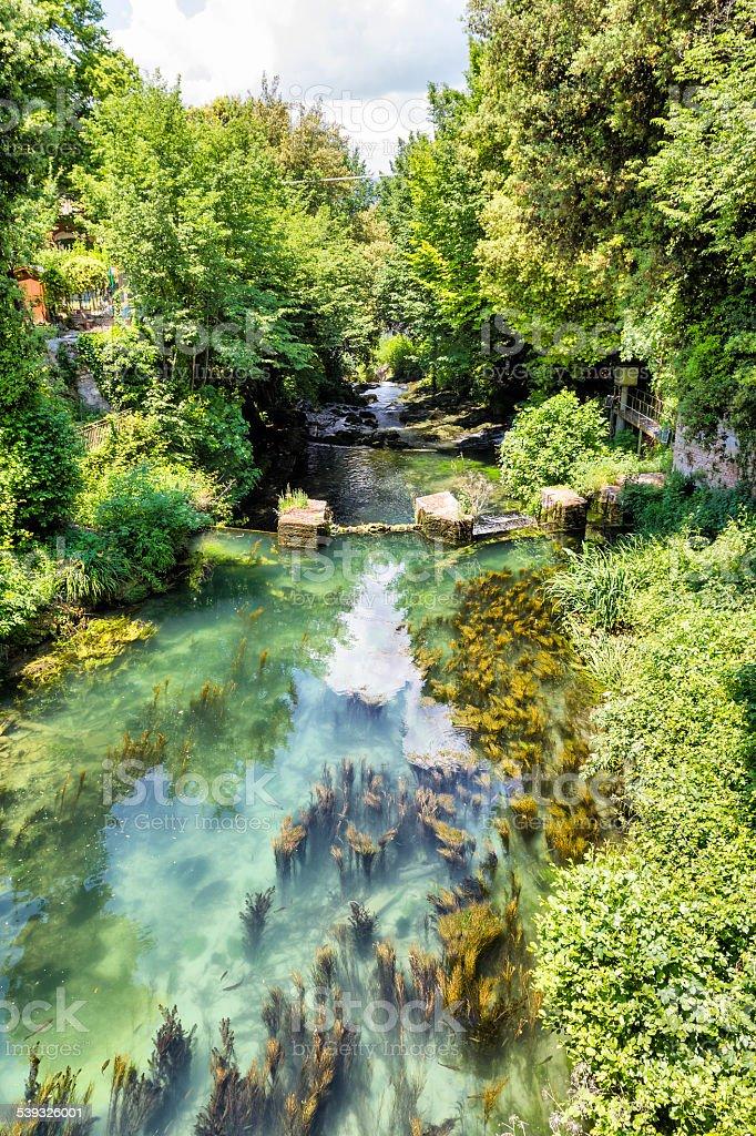 Velino river before Marmore's waterfalls (Terni - Italy) stock photo