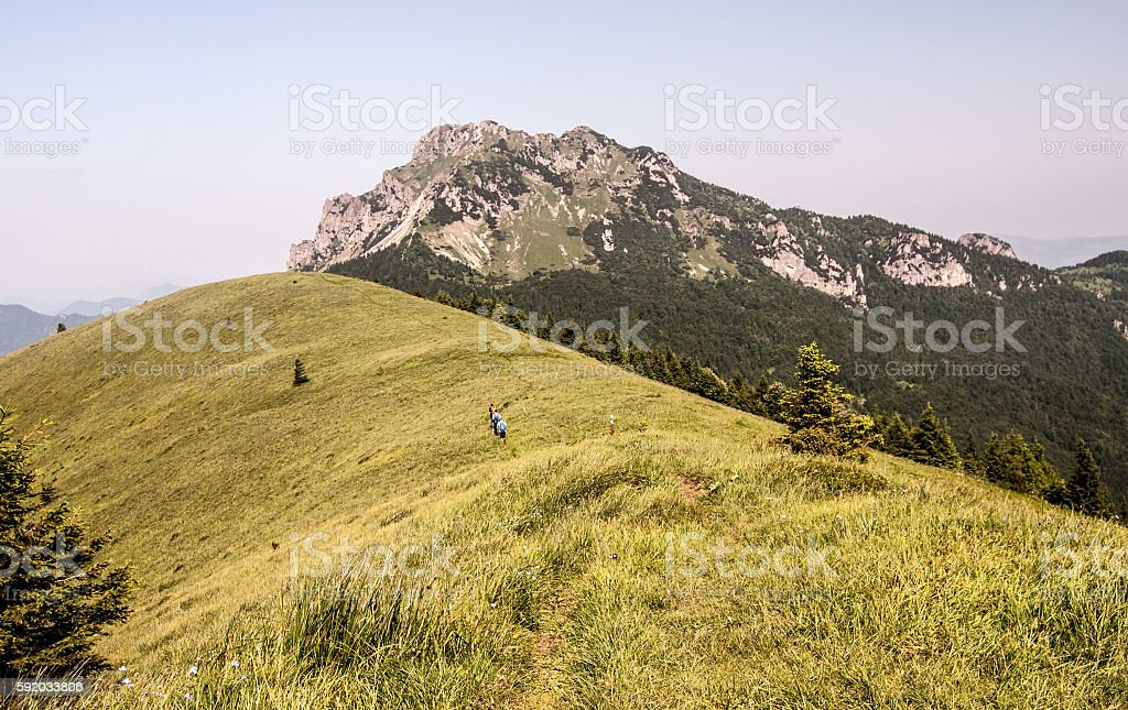 Velky Rozsutec from Osnica hill in Mala Fatra mountains stock photo