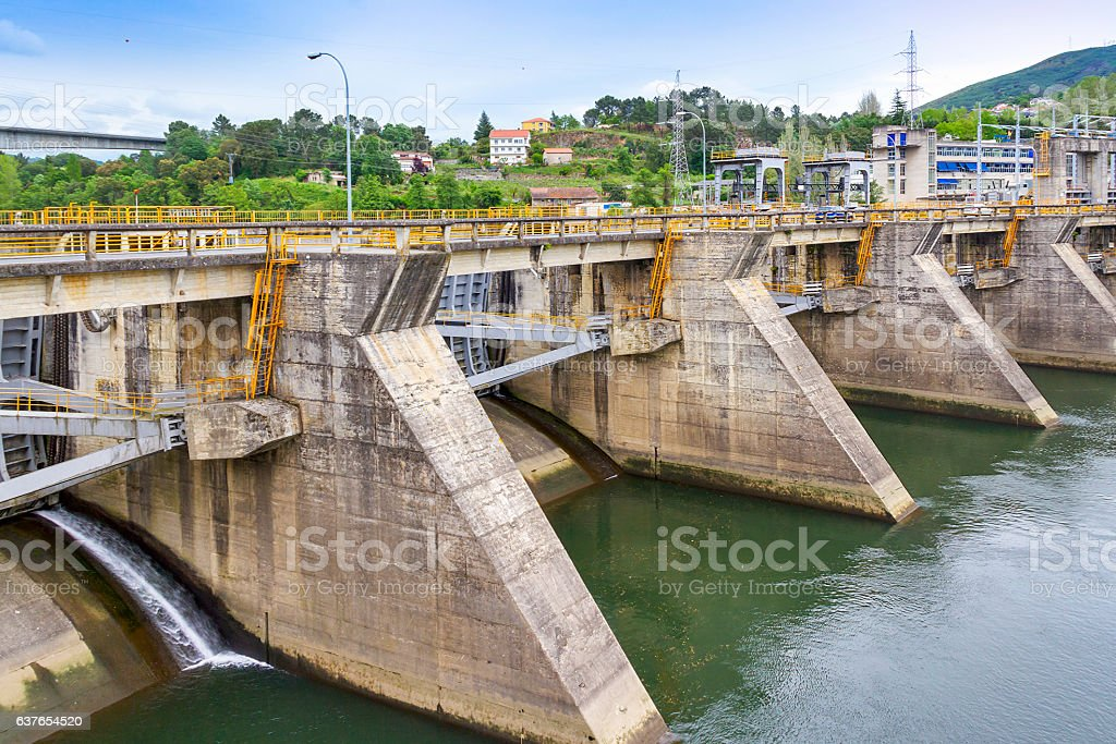 Velle hydroelectric power station stock photo