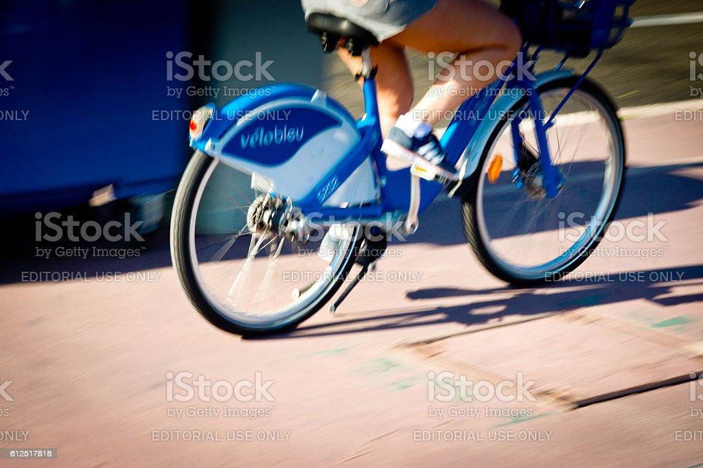 Velobleu bike in Nice,France stock photo