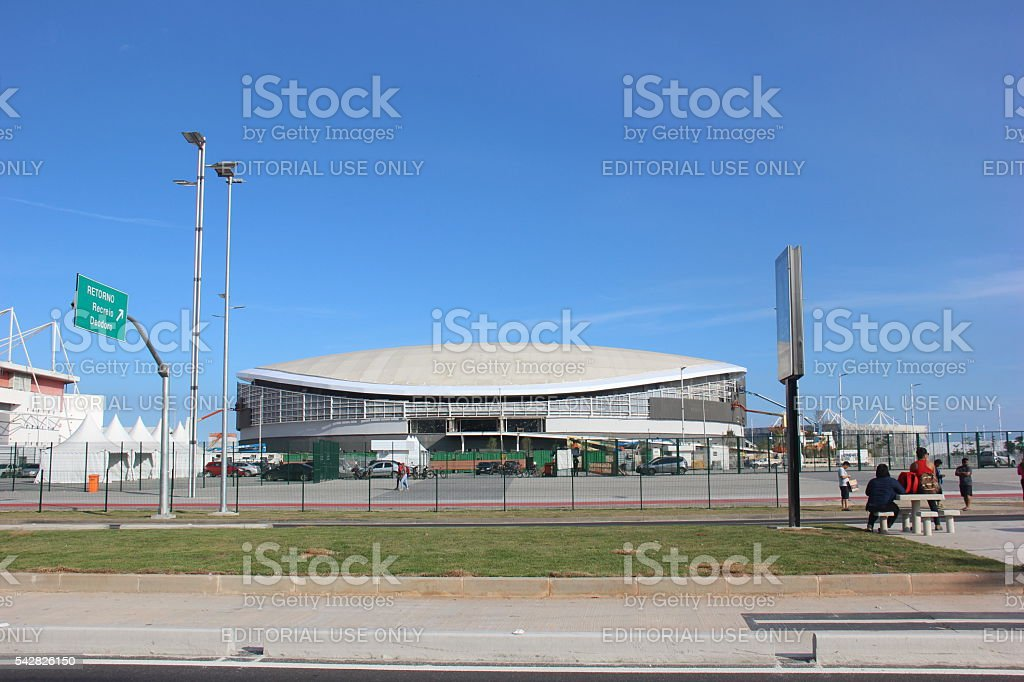 Velodrome of the Rio 2016 Olympic Games stock photo
