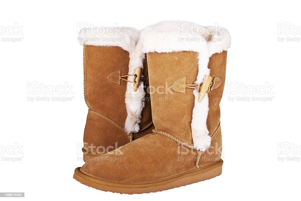 veloursleder boots stock photo