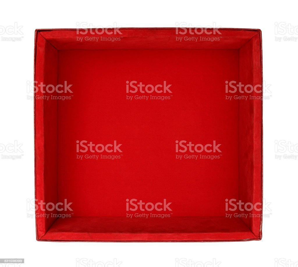 Velvet box stock photo