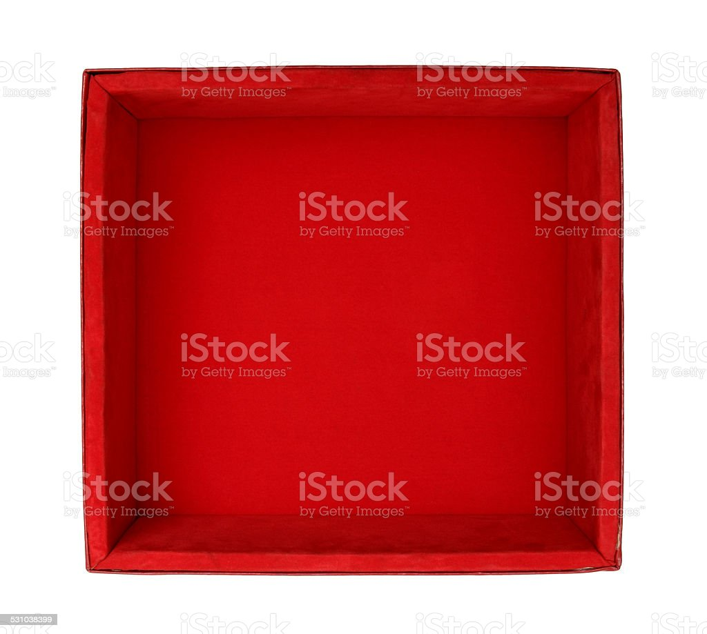 Velvet box stock photo