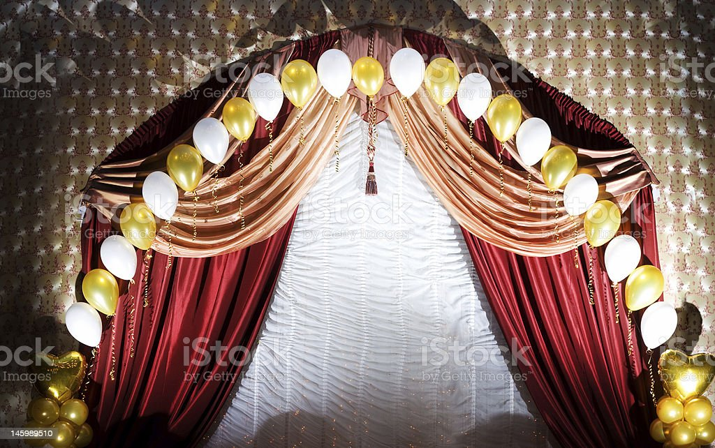 velvet curtains royalty-free stock photo