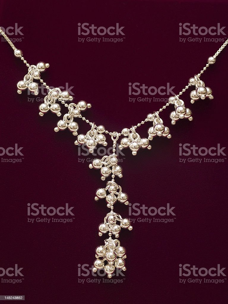 velvet necklace royalty-free stock photo