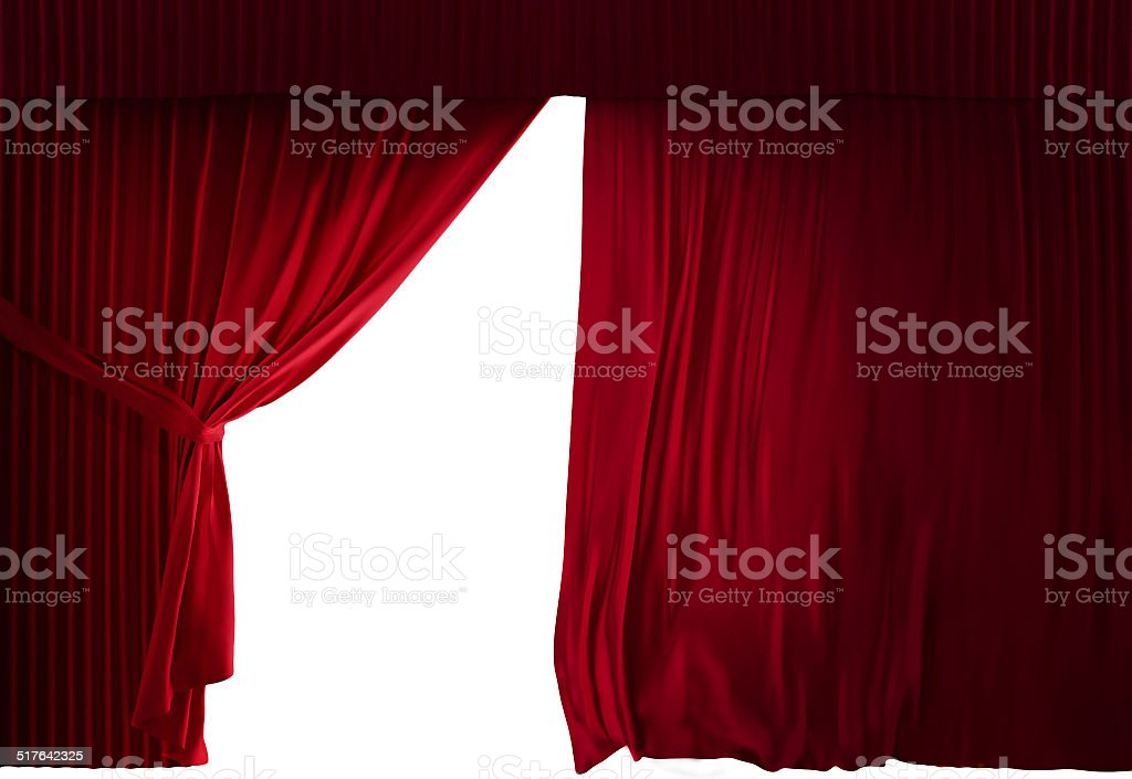 Velvet red courtain stock photo