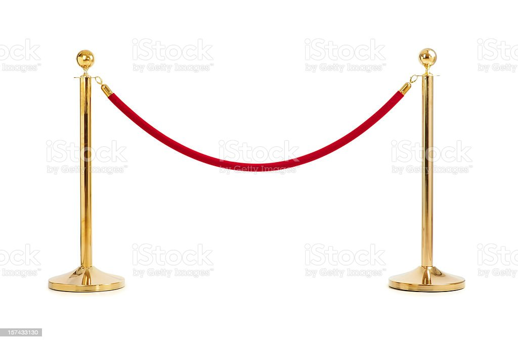 Velvet rope isolated stock photo