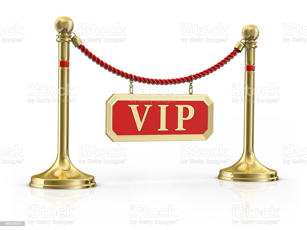 Velvet Rope  with a Sign Vip stock photo
