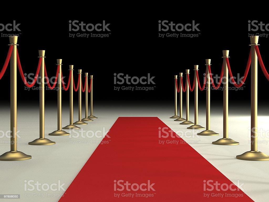 Velvet Ropes and Red Carpet stock photo