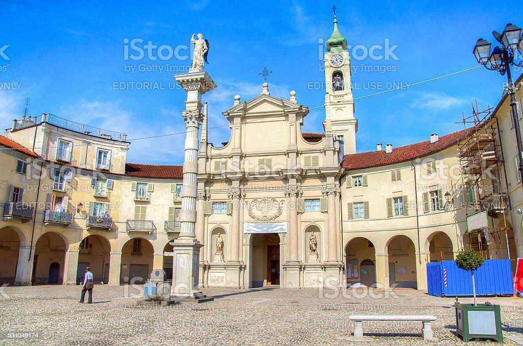 Venaria Reale village Piazza Annunziata Turin  Piedmont Italy stock photo