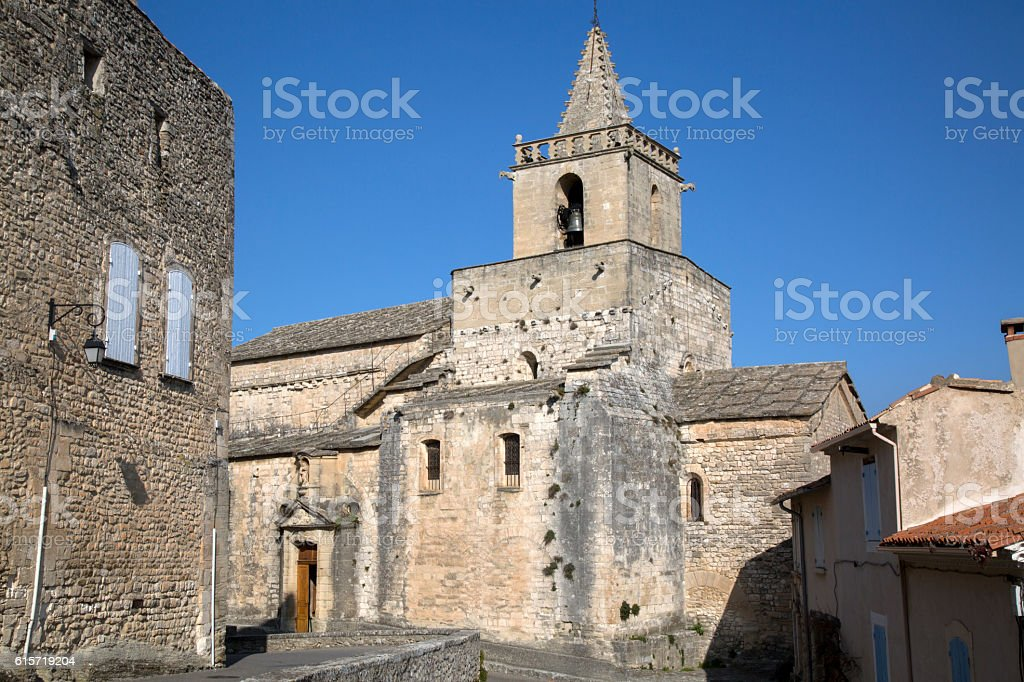 Venasque Church, Luberon; Provence stock photo