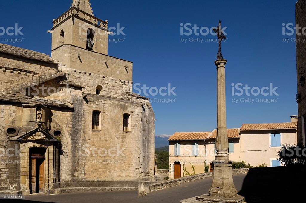 Venasque, Provence, France stock photo
