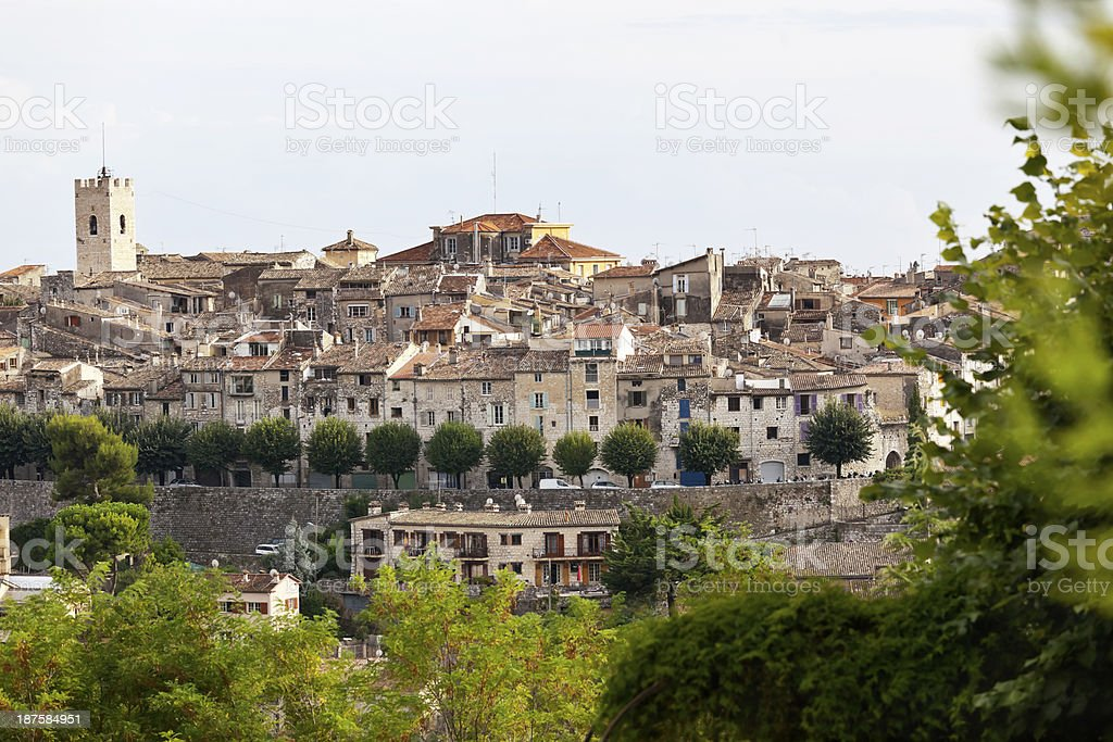 Vence Town in Provence royalty-free stock photo