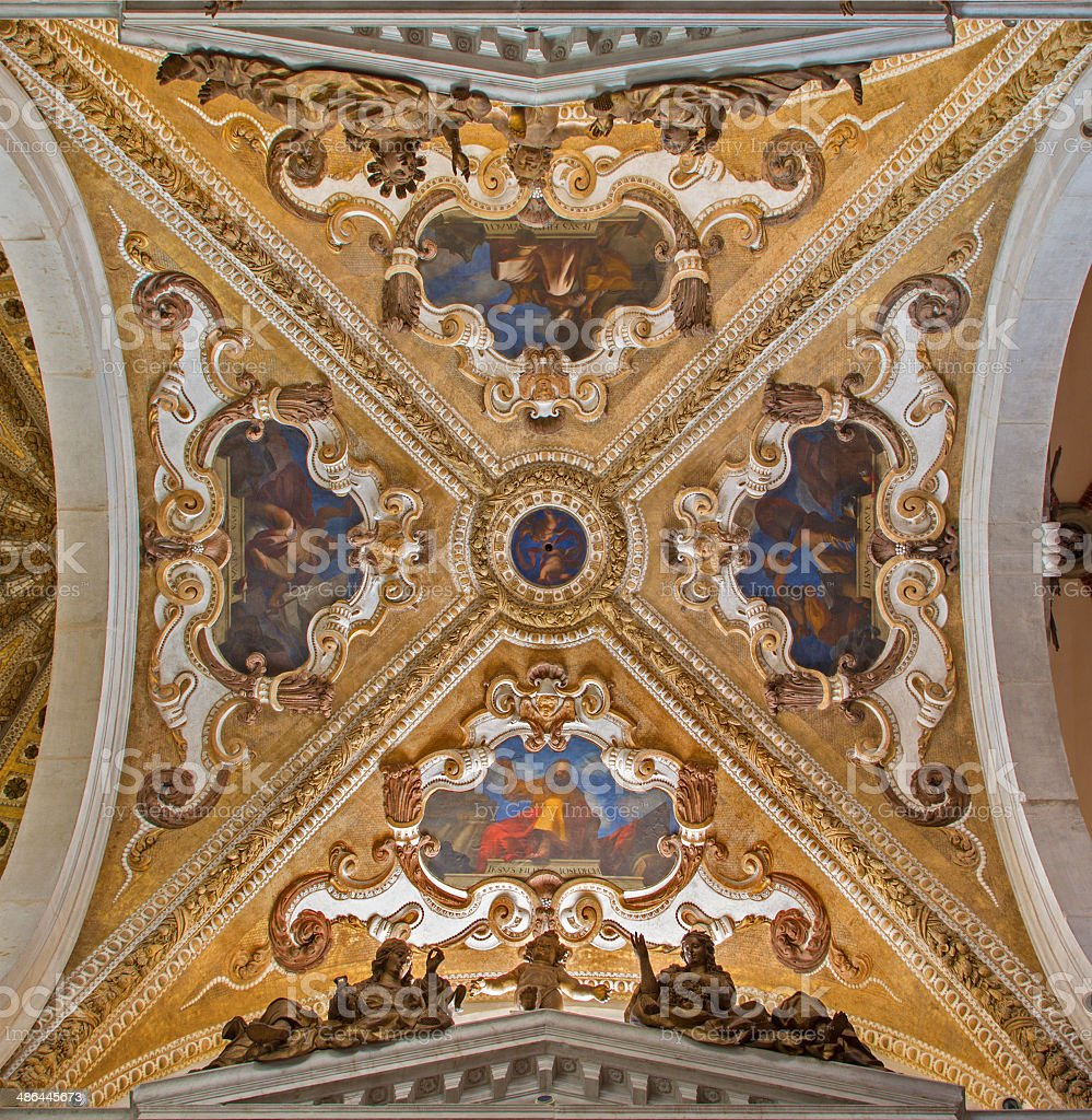 Vencice - ceiling in Basilica di san Giovanni e Paolo stock photo
