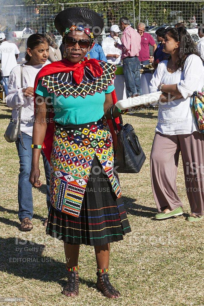 Venda Lady in traditional dress stock photo
