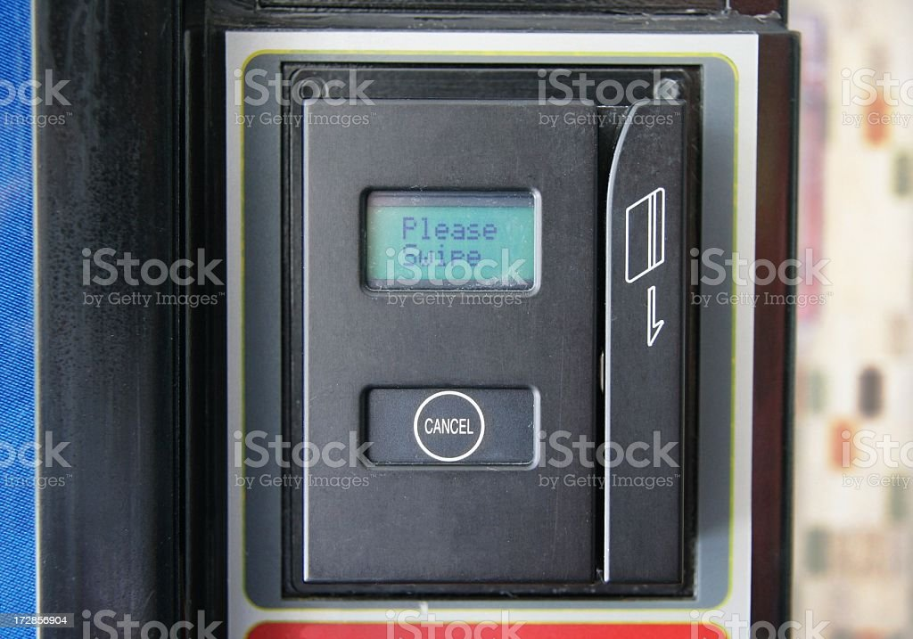 Vending Machine Card Swipe royalty-free stock photo