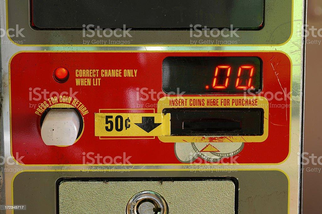 Vending machine digital readout royalty-free stock photo