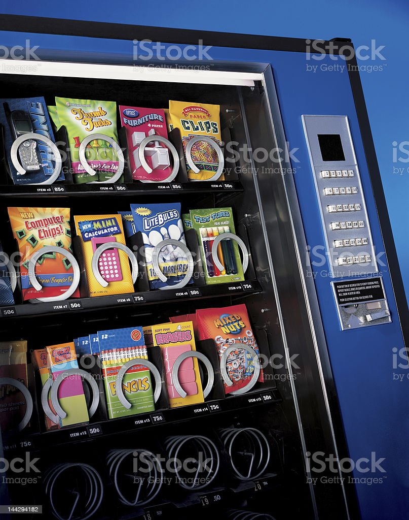 vending machine office supplies stock photo