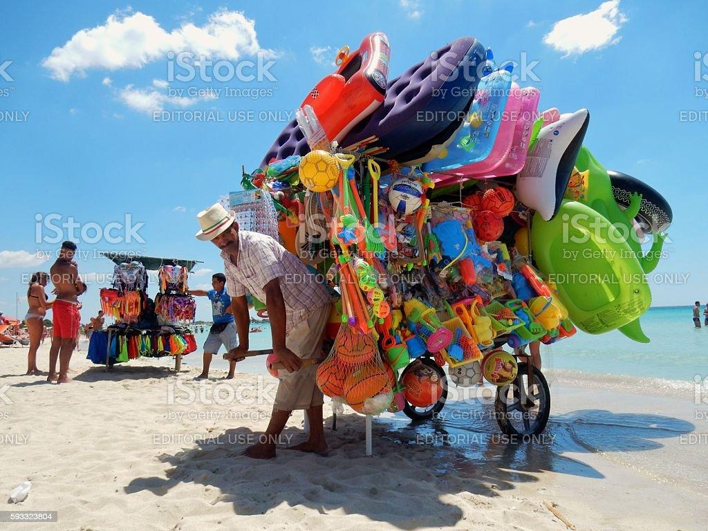 Venditori da spiaggia stock photo