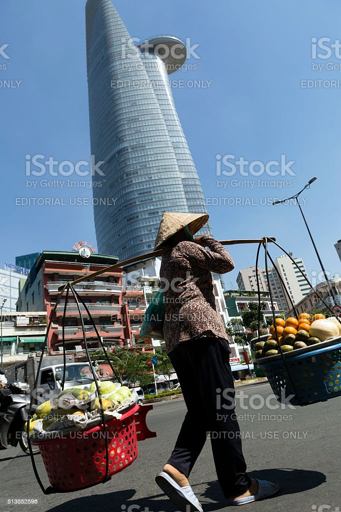 Vendor Ho Chi Minh City Vietnam stock photo