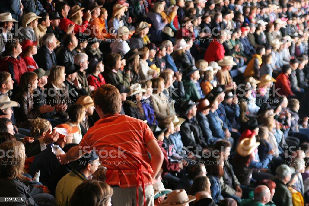 Vendor in Stadium Crowd stock photo
