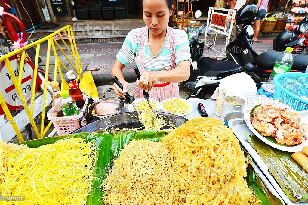vendor on Kaosan Road stock photo