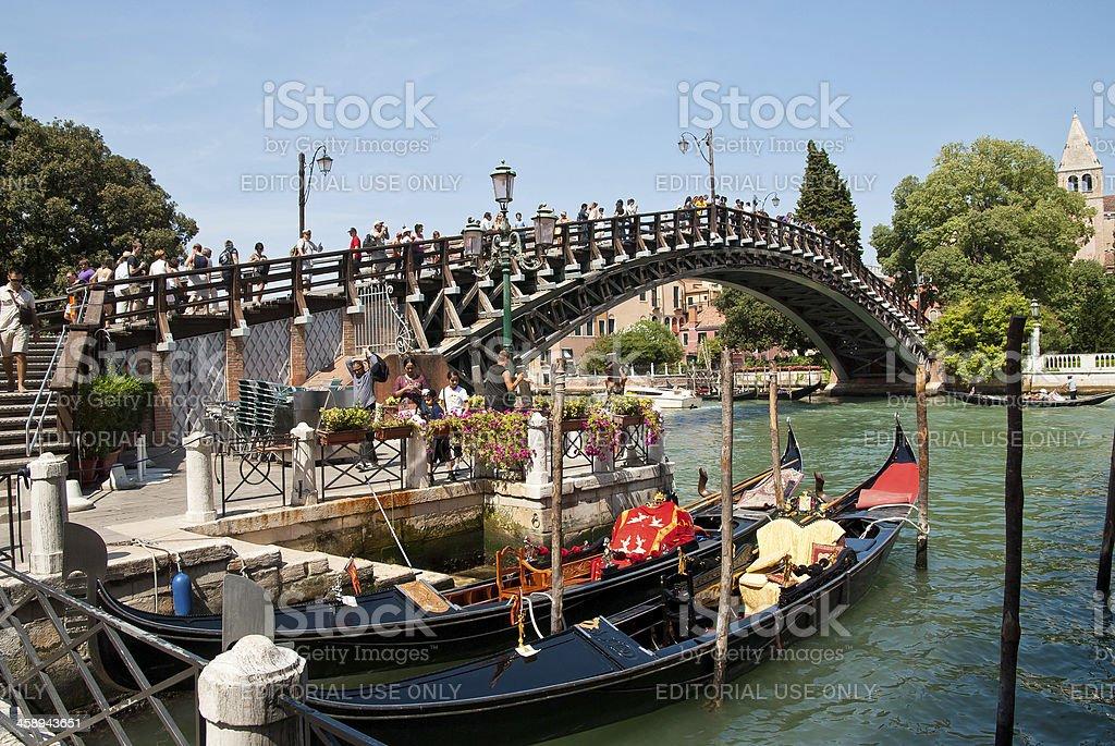 Venecian Bridge - Ponte dell'Accademia royalty-free stock photo