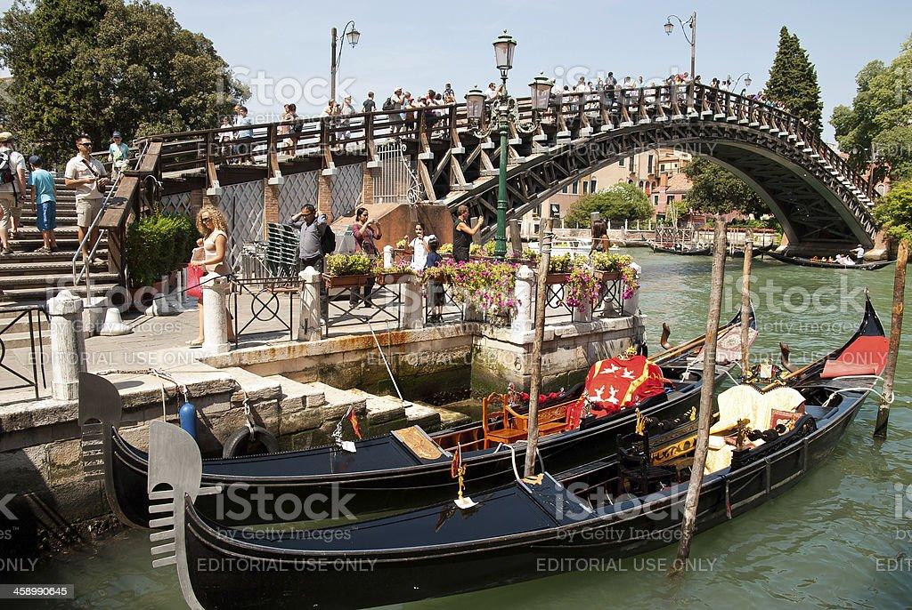 Venecian Bridge - Ponte dell'Accademia stock photo