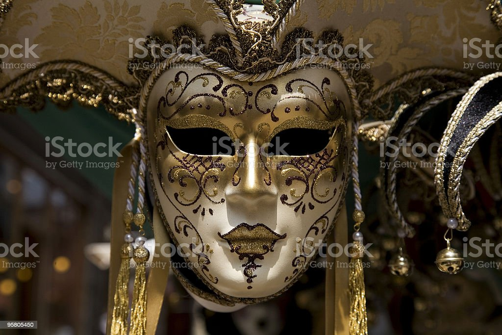 venecian carnival mask XL stock photo