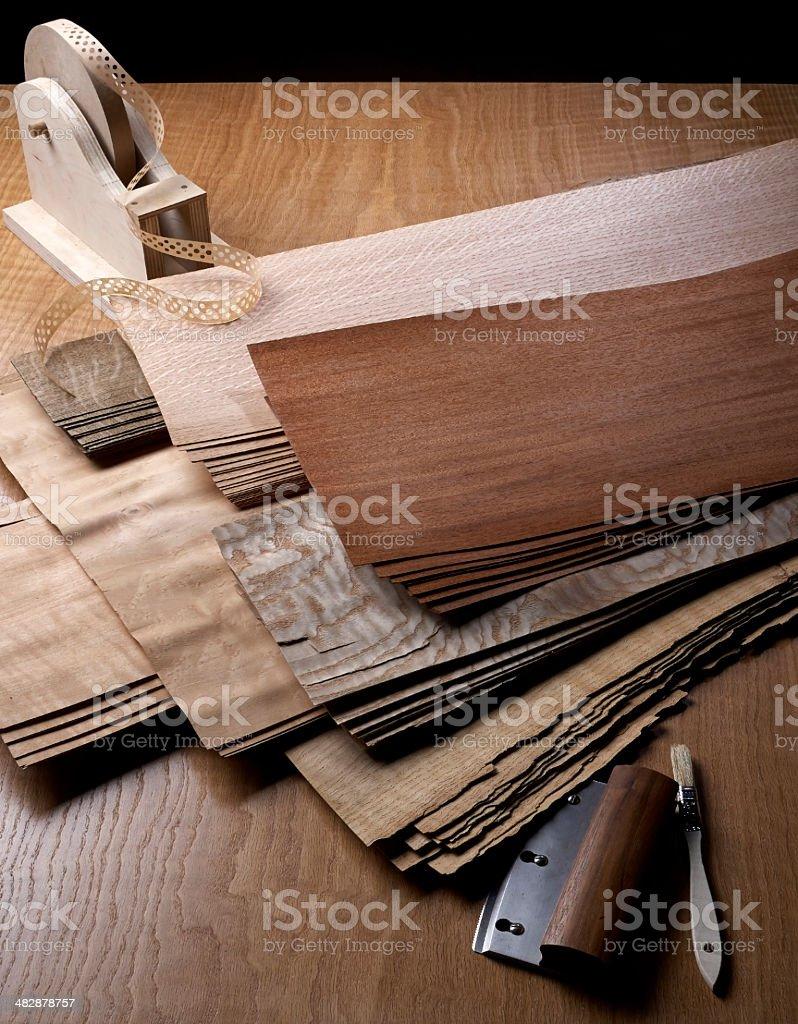 Veneer Sheets stock photo