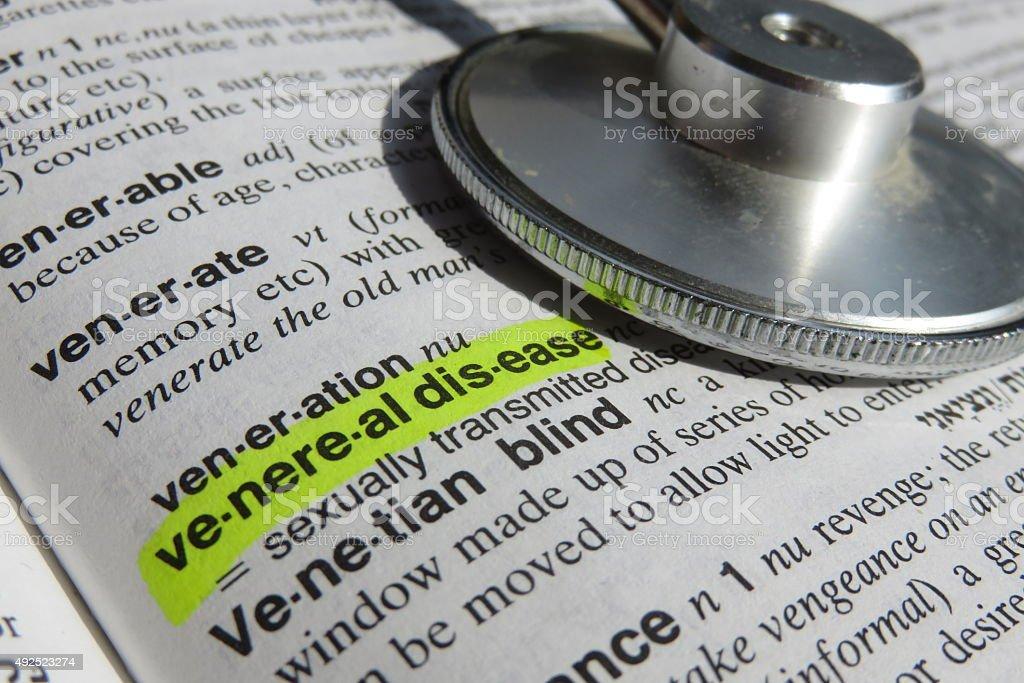 Venereal Desis - dictionary definition stock photo
