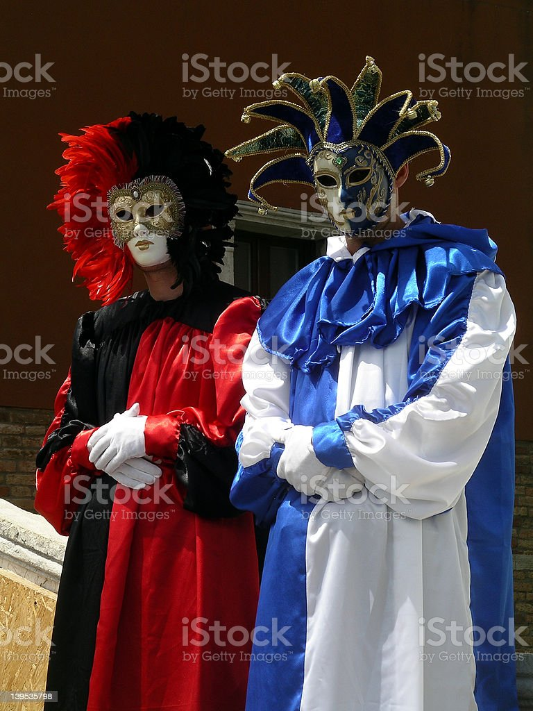 Venetian actors royalty-free stock photo